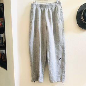 NIKE JORDAN gray sweatpants joggers knit L